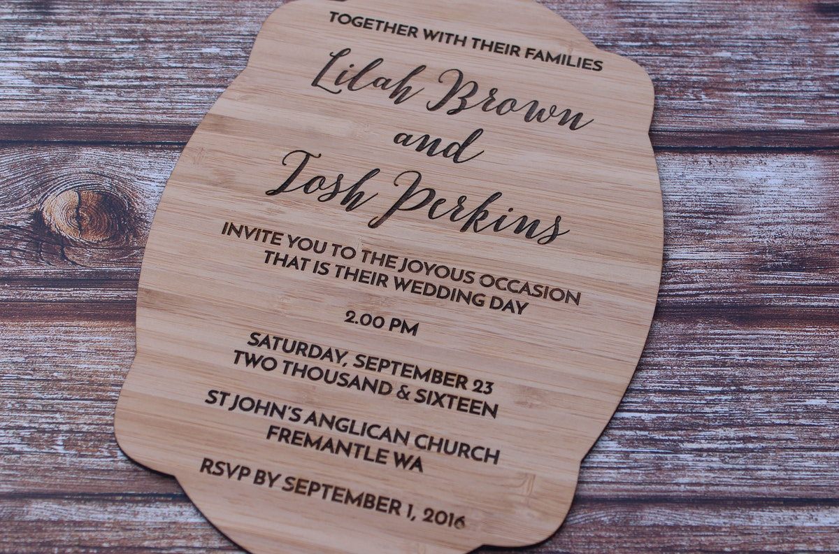 Buy Wedding Invitations: Buy Online Foote And Flame